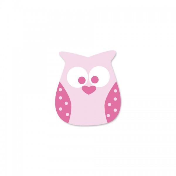 Angebot Motivperle Eule vertikal babyrosa/pink