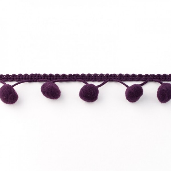Pompomband Maxi 2,5cm violett