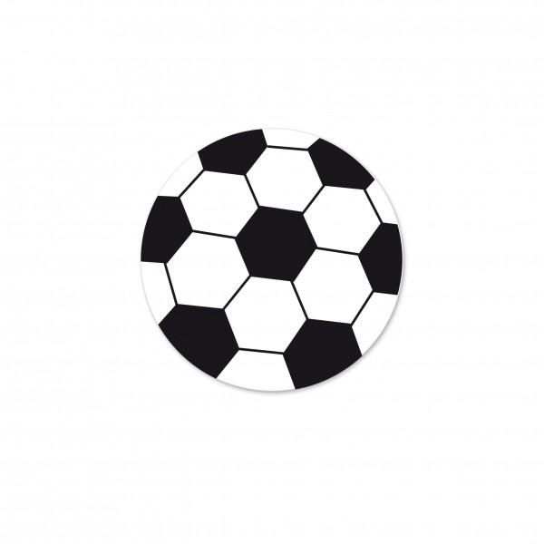 Angebot Motivperle Fussball horizontal weiß/schwarz