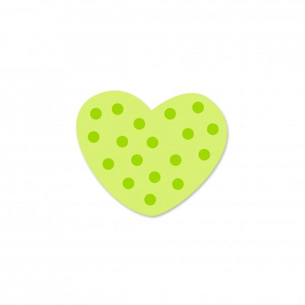 Angebot Motivperle Mini-Tupfenherz vertikal lemon/apfelgrün