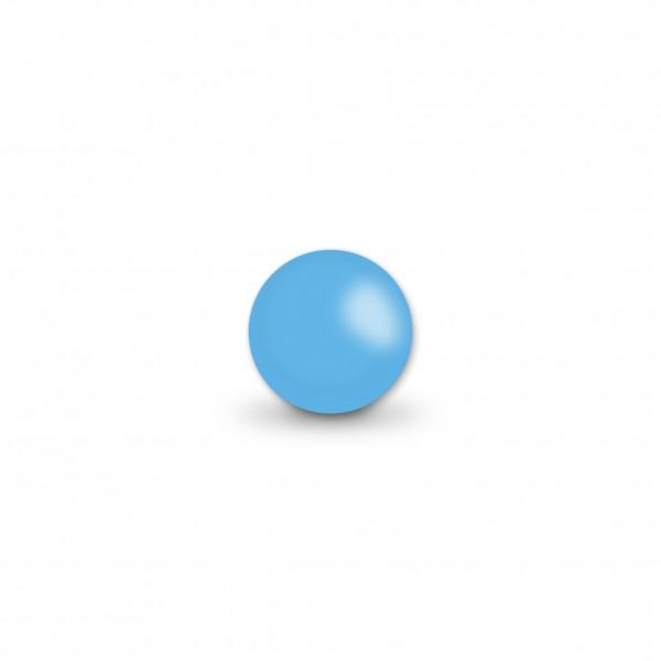 Uniperlen 8 mm skyblau (ca. 45 Stück)