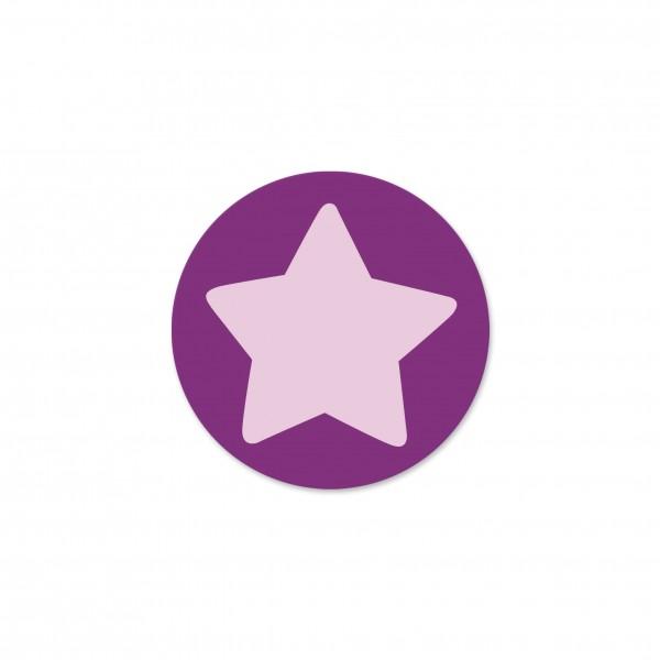 Motivperle Sternchen-Scheibe horizontal purpur/hellrosa