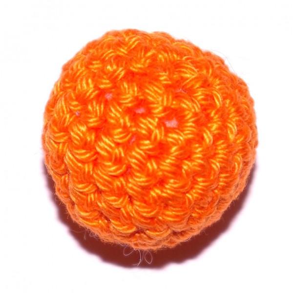 Häkelkugel mit Wattefüllung orange