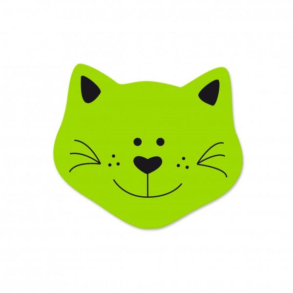 Angebot Motivperle Mini-Katze vertikal apfelgrün