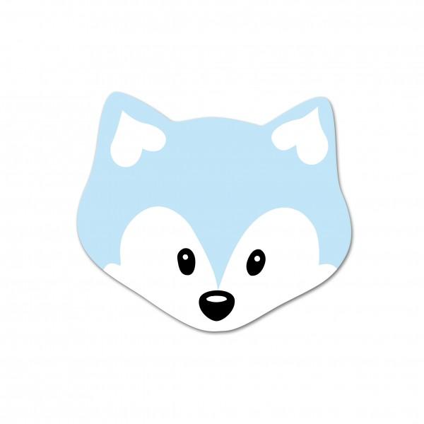 Motivperle Mini-Fuchs vertikal babyblau