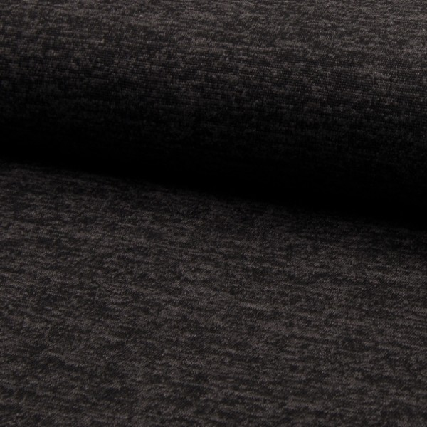 melierter Strickjersey schwarz