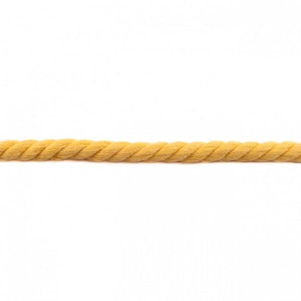 gedrehte Maxi-Kordel 12 mm uni gelb