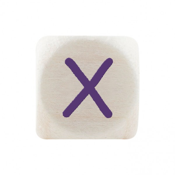 Angebot Premiumbuchstabe 10 mm lila X