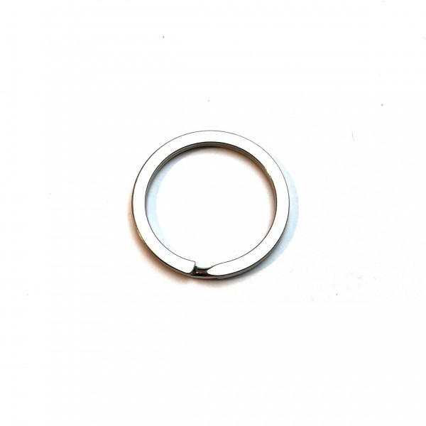 Schlüsselring, Spaltring Kreis silber