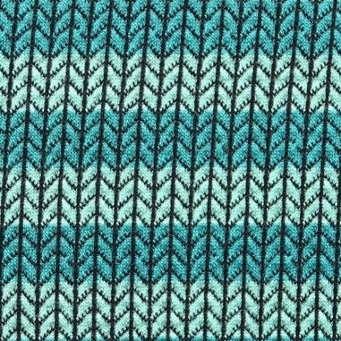 Jacquardjersey Knit Knit Maxistripes mint/dunkeltürkis (GOTS) by Albstoffe und Hamburger Liebe