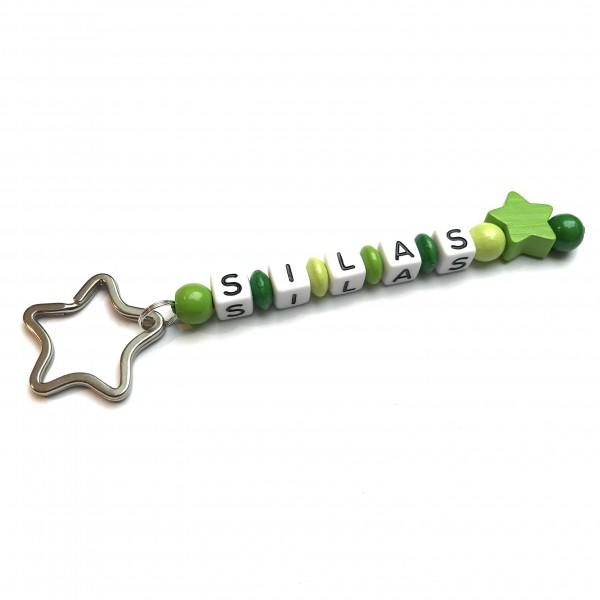 Schlüsselanhänger mit Wunschname (Modell Silas)