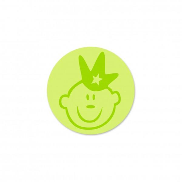 Ausverkauf Motivperle Prinz horizontal lemon/apfelgrün