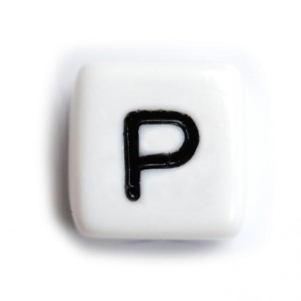 Kunststoffbuchstabenwürfel 10 mm einzeln P