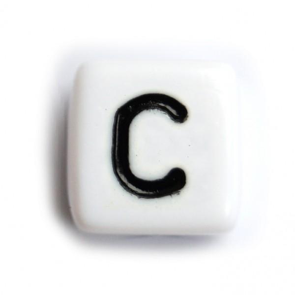 Kunststoffbuchstabenwürfel 10 mm einzeln C