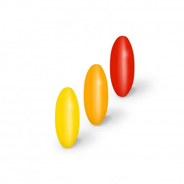 Linsenperlen gelb-mix