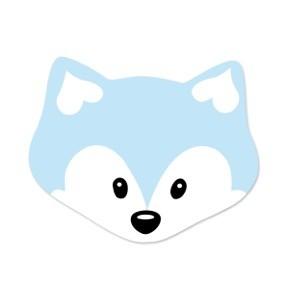 Motivperle Midi-Fuchs vertikal babyblau