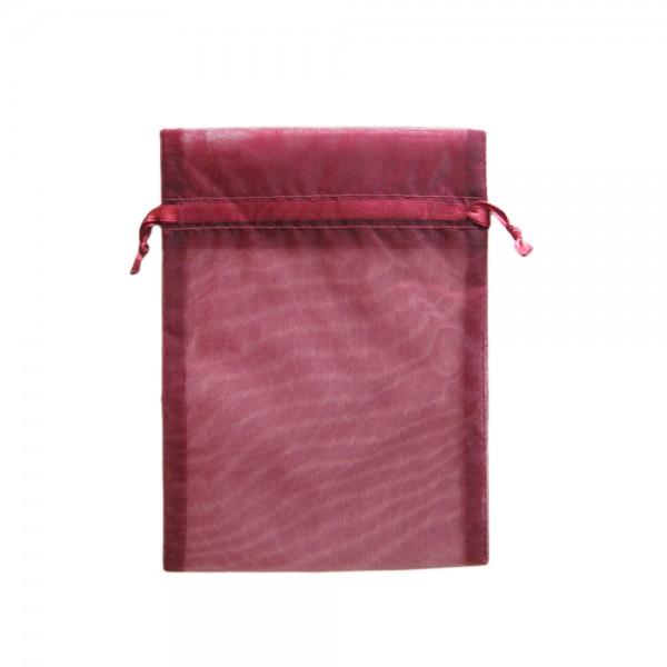 Angebot Organzasäckchen 15 x 10 cm dunkelrot