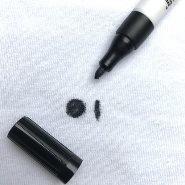 Stoffmalstift feine Spitze schwarz