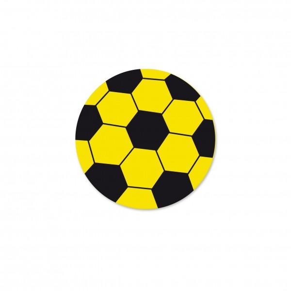 Motivperle Fussball horizontal gelb/schwarz