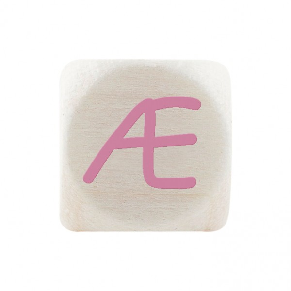Premiumbuchstabe 10 mm rosa Æ
