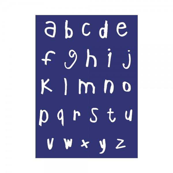 Schablone A4, Alphabet Kleinbuchstaben