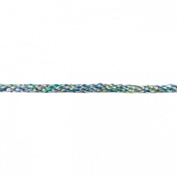 gedrehte Kordel 8 mm mehrfarbig türkis metallic
