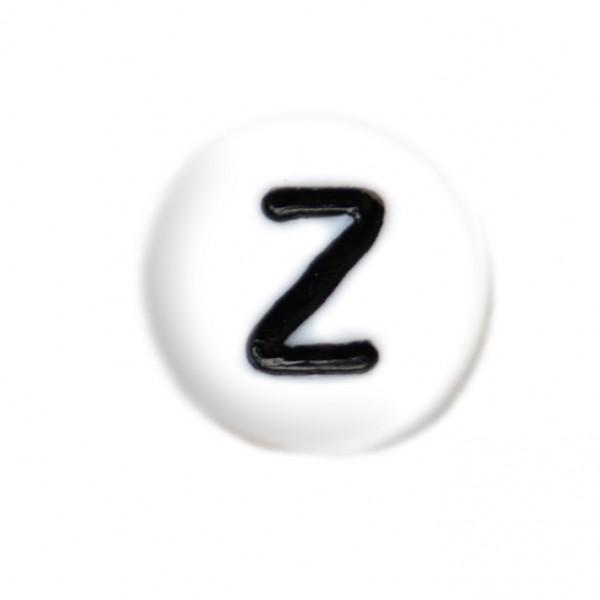 weisse Buchstabenperlen 7 mm Z