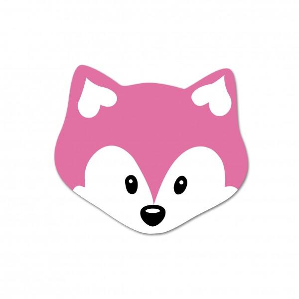 Ausverkauf Motivperle Mini-Fuchs vertikal pink