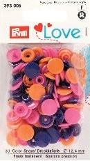 Prym Love Druckknöpfe 'Color Snaps' orange/pink/violett