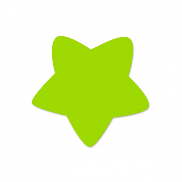 Motivperle Sternchen horizontal apfelgrün