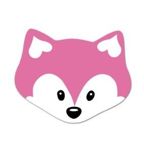 Ausverkauf Motivperle Midi-Fuchs vertikal pink