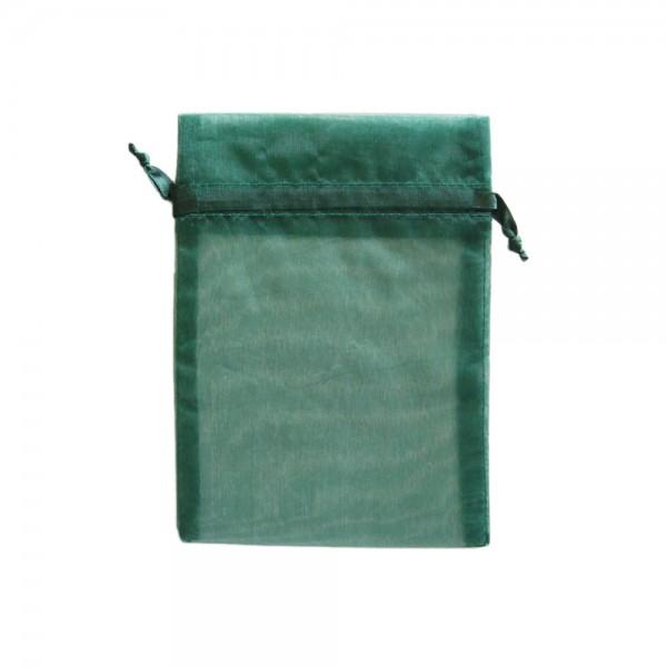 Angebot Organzasäckchen 15 x 10 cm dunkelgrün