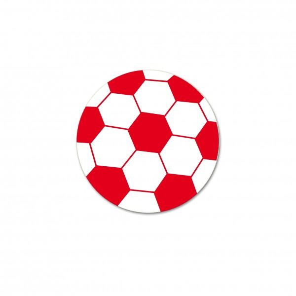 Angebot Motivperle Fussball horizontal weiß/rot