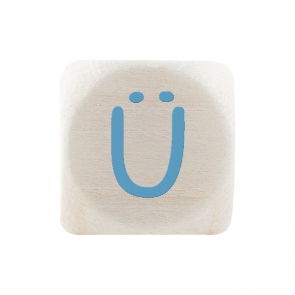 Premiumbuchstabe 10 mm babyblau Ü