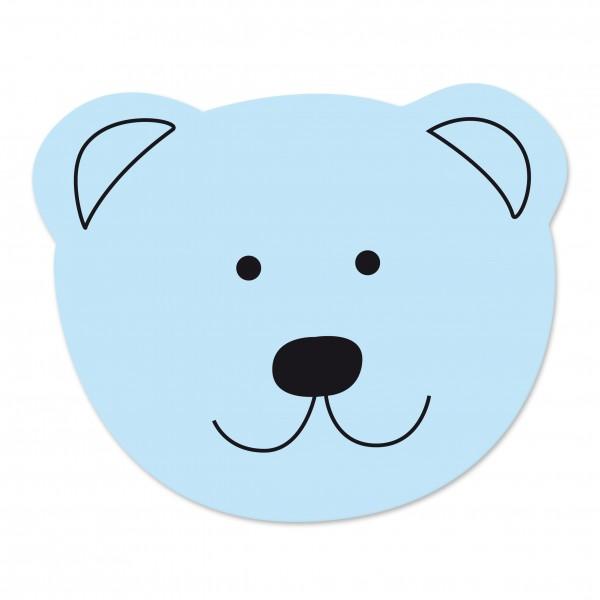 Sale Motivperle Maxi-Bär vertikal babyblau