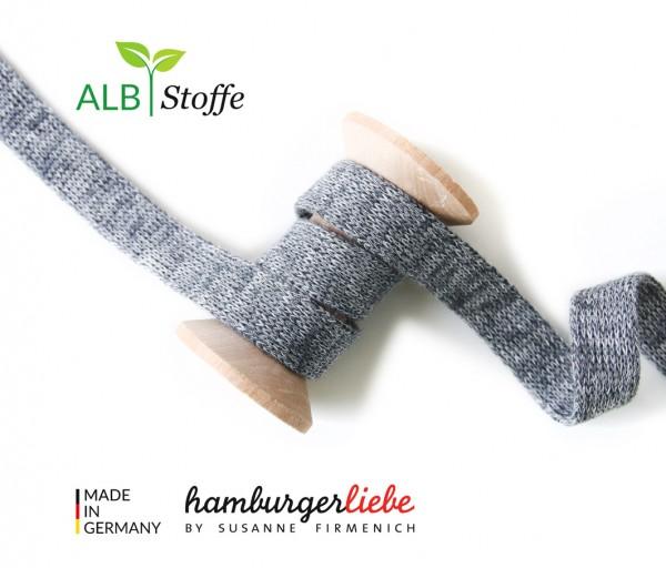 DEAL Hamburger Liebe Melange Hoodie Flachkordel carbon/hellgrau melange