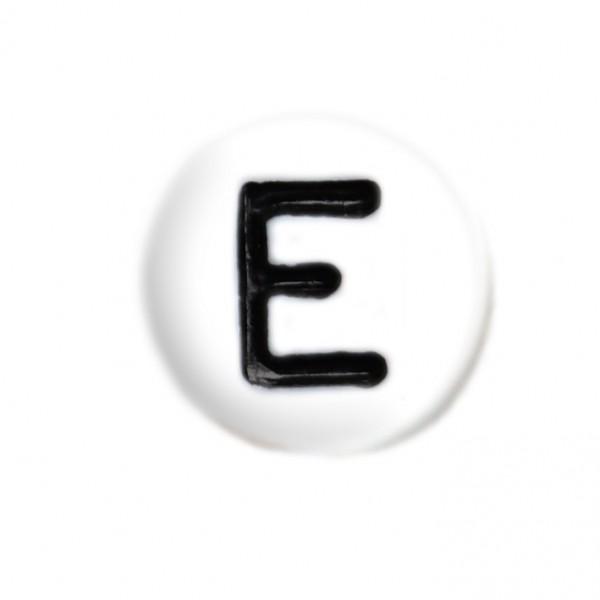 weisse Buchstabenperlen 7 mm E