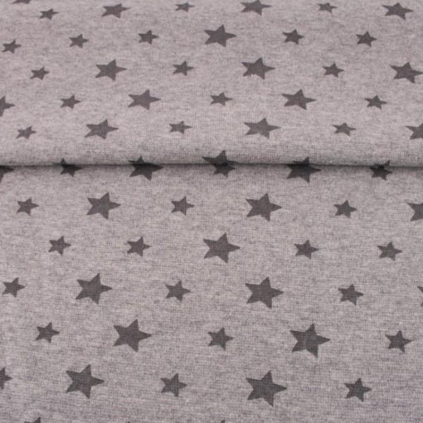 Sale Bündchen Sterne meliert hellgrau/dunkelgrau