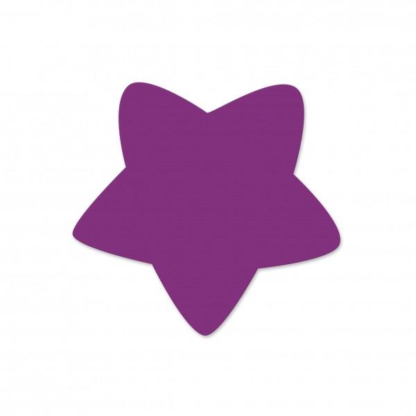 Motivperle Sternchen horizontal violett