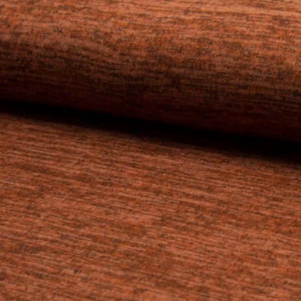 melierter Strickjersey terracotta