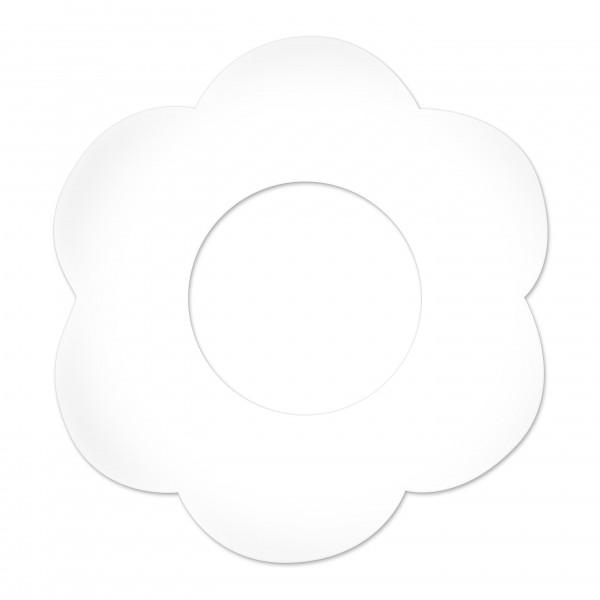 Motivperle Blume gross horizontal weiß
