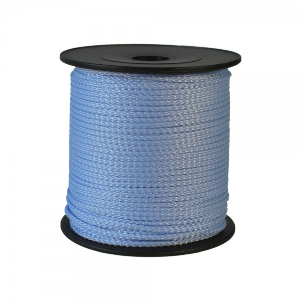 100 m Schnurrolle, 1,5 mm Durchmesser, pastellblau