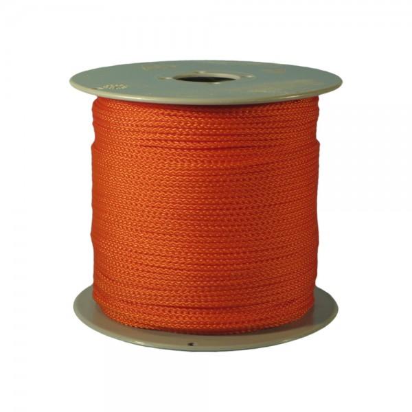 100 m Schnurrolle, 1,5 mm Durchmesser, orange