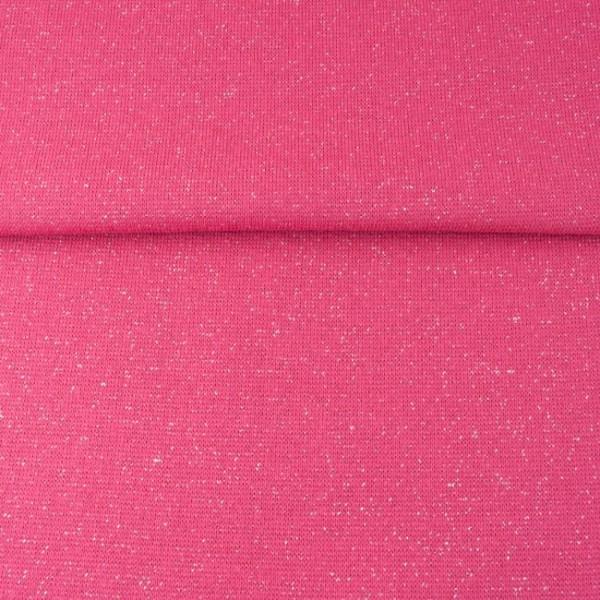 Glitzerbündchen uni pink
