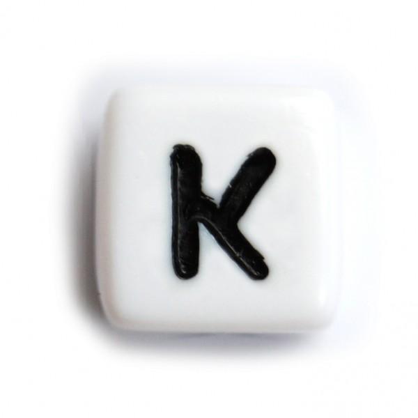Kunststoffbuchstabenwürfel 10 mm einzeln K