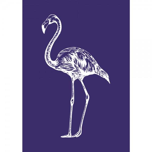 Schablone A5, Flamingo