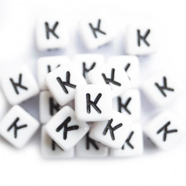 ca. 50 Kunststoffbuchstabenwürfel 10 mm K