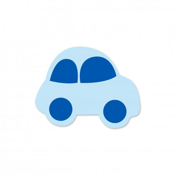 Motivperle Auto horizontal babyblau/mittelblau