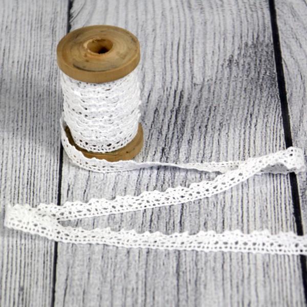Klöppelspitze 11 mm Baumwolle weiß