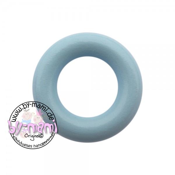 Holzring 36 mm mit Bohrung babyblau